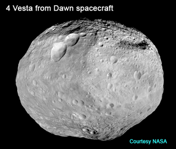 Asteroid Vesta mosaic from Dawn Mission space probe