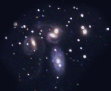 Stephan's Quintet of galaxies as can be found in Stellarium software.